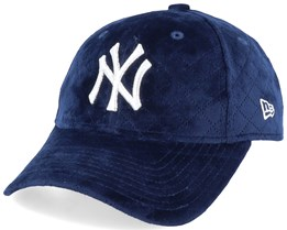 New York Yankees Women MLB Quilted 9Forty Blue/Silver Adjustable - New Era