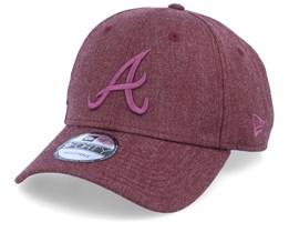 Atlanta Braves Winterized The League Maroon/Maroon Adjustable - New Era
