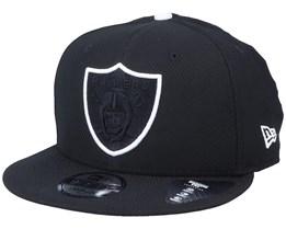 Oakland Raiders Team Outline 9Fifty Black/Black Snapback - New Era