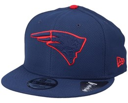 New England Patriots Team Outline 9Fifty Navy/Red Snapback - New Era
