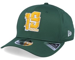 Green Bay Packers NFL Numbers Stretch 9Fifty Green/Yellow Adjustable - New Era
