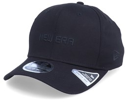 Essential Logo Stretch-Snap 9Fifty Black/Black Adjustable - New Era