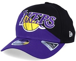 LA Lakers NBA Team Split Stretch 9Fifty Purple/Black Adjustable - New Era