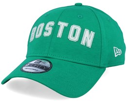 Boston Celtics NBA Felt Script 9Forty Heather Green/White Adjustable - New Era
