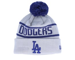 Los Angeles Dodgers Otc Bobble Knit Grey/Royal Pom - New Era