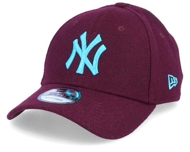 New York Yankees Melton 9Forty MaroonBlue Adjustable New
