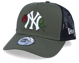New York Yankees Mens Twine Green/Black Trucker - New Era