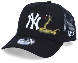 New York Yankees Mens Twine Black/Black Trucker - New Era