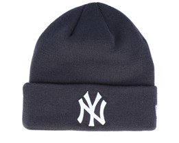 New York Yankees League Essential Knit Dark Grey/White Cuff - New Era