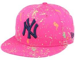 New York Yankees 9Fifty Paint Pack Pink/Navy Snapback - New Era