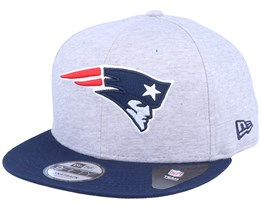 New England Patriots 9Fifty Jersey Essential Heather Grey/Navy Snapback - New Era