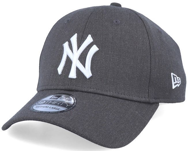 New York Yankees 39Thirty Heather Essential Dark Grey/White Flexfit - New Era