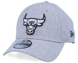 Chicago Bulls 39Thirty Heather Essential Grey/Black Flexfit - New Era