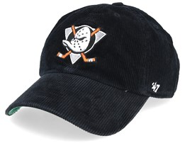 Anaheim Ducks Corduroy 47 Clean Up Black Adjustable - 47 Brand