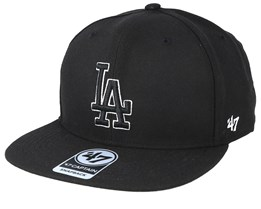 Los Angeles Dodgers No Shot 47 Captain Black Snapback - 47 Brand
