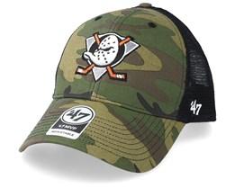 Anaheim Ducks Branson 47 Mvp Mesh Camo/Black Trucker - 47 Brand