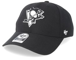 Pittsburgh Penguins 47 Mvp Wool Black/Black & White Adjustable - 47 Brand