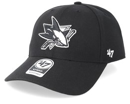 San Jose Sharks 47 Mvp Wool Black/Black & White Adjustable - 47 Brand