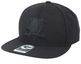 Anaheim Ducks No Shot 47 Captain Black/Black Snapback - 47 Brand