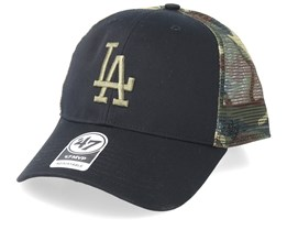 Los Angeles Dodgers Back Switch 47 Mvp Black/Camo Trucker - 47 Brand