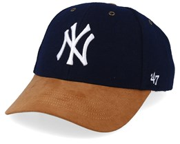 New York Yankees Willowbrook 47 Mvp Wool Navy/Camel Adjustable - 47 Brand
