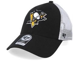 Pittsburgh Penguins Malvern 47 Mvp Wool Black/White Trucker - 47 Brand