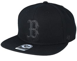 Boston Red Sox 47 Captain Wool Black/Matte Black Snapback - 47 Brand