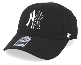 New York Yankees Split Logo 47 Mvp Wool Black Adjustable - 47 Brand