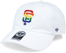 San Francisco Giants Pride Clean Up White/Rainbow Adjustable - 47 Brand
