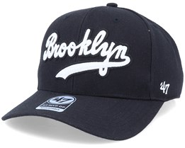 Brooklyn Dodgers Cooperstown Mvp Script Chain Link Black/White Adjustable - 47 Brand