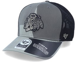 Chicago Blackhawks Mvp DP Countershade Sandalwood Camo/Black Trucker - 47 Brand