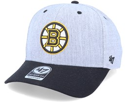 Boston Bruins Storm Cloud Mvp DP Charcoal/Black Adjustable - 47 Brand