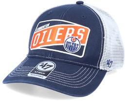 Edmonton Oilers Mvp Slash Patch Navy/White Trucker - 47 Brand