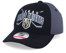 Kids Vegas Golden Knights Fan Faceoff Black/Dark Grey Adjustable - Outerstuff