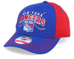 Kids New York Rangers Fan Faceoff Blue/Red Adjustable - Outerstuff