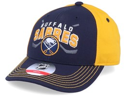 Kids Buffalo Sabres Fan Faceoff Navy/Yellow Adjustable - Outerstuff