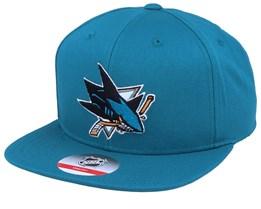 Kids San Jose Sharks Solid Blue Snapback - Outerstuff