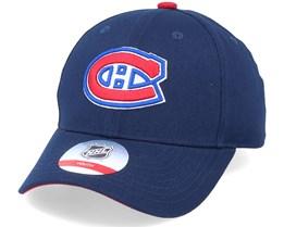 Kids Montreal Canadiens Locker Room True Navy Adjustable - Outerstuff