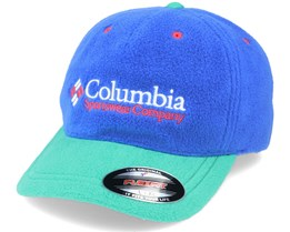 ™ Fleece Cap Lapis Blue/Emerald Green Flexfit - Columbia