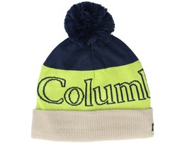 Polar Powder™ Beanie Green/Navy/Beanie Pom - Columbia