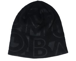 City Trek™ Debossed Beanie Black Typo Print Beanie - Columbia