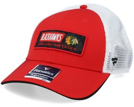 Chicago Blackhawks Iconic Defender Athletic Red/White Trucker - Fanatics