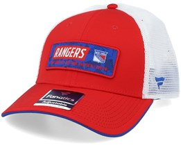 New York Rangers Iconic Defender Athletic Red/White Trucker - Fanatics