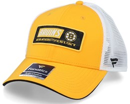 Boston Bruins Iconic Defender Yellow Gold/White Trucker - Fanatics