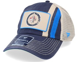 Winnipeg Jets True Classics Unstructured Meshback Navy Trucker - Fanatics
