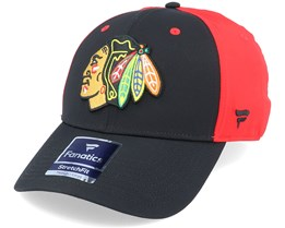 Chicago Blackhawks Black/Red Speed Flexfit - Fanatics