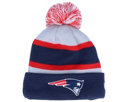 Kids New England Patriots Striped Grey/Navy/Red Cuff Knit