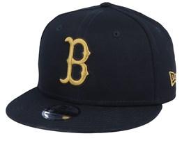 Kids Boston Red Sox League Essential 9Fifty Black/Gold Snapback - New Era