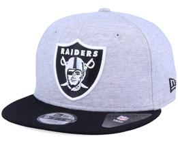 Kids Oakland Raiders 9Fifty Jersey Essential Heather Grey/Black Snapback - New Era
