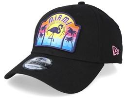 USA Patch 9Forty Miami Black Adjustable - New Era